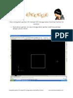 Cara Mengubah Gambar 2d Menjadi 3d Menggunakan Autocad