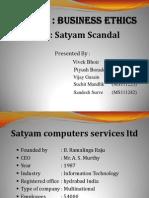 Satyam Scandal