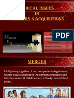 Ethics in Mergers and Acquisitions