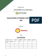 Calculo Gas Motor Tank 3000 A