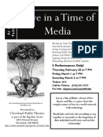 Love in a Time of Media Flyer