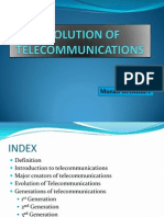 Evolution of Telecommunications