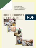 201304, CNE - Manual de Funcionnamiento de La Mesa Electoral