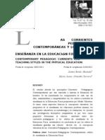 Corrientes Pedagocias Contemporaneas