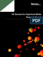 UK demand for hyperlocal media