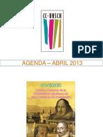 AGENDA – ABRIL 2013
