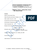 Unit 7 Envt Policy Legislation Rules and Regulations