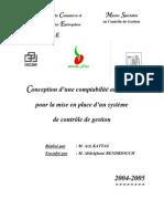 Conception d'une comptabilité analytique  SONACOS