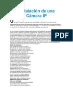 Información de la cámara IP