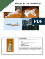 T-38 Park Jet Construction Guide
