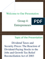 Dividend Taxes and Security Prices the Reaction of Dividend-Paying Stocks to the Jobs and Growth Tax Relief Reconciliation Act of 2003