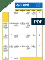 Oakmont UMC Calendar April 2013