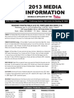 041013 Reading Fightins Game Notes