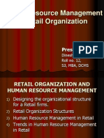 Human Resource Management in Retail Organization