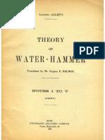 Theory of WaterHammer
