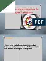 A Comunidade dos países de Língua Portuguesa