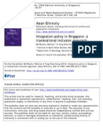 Immigrant Integration Policy in Singapore