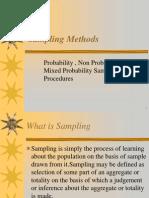 Sampling Methods I