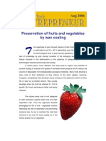 Preservation of Fruits by Waxing