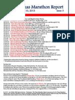 Texas Marathon Report, Issue 3, April 10, 2013