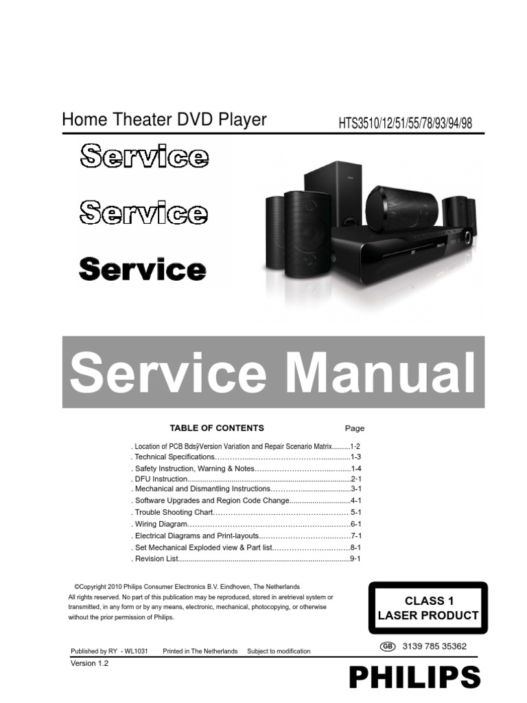philips hts 3510 12 51 55 78 93 94 98 compact disc loudspeaker rh scribd com Philips Home Theater Receiver Philips Home Theater System Manual
