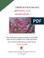 Kunstdage i Pinsen 18.19.&20.maj 2013