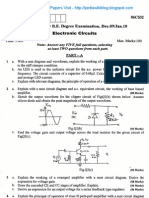 Electronic Circuits Jan 2010