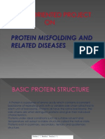 Protein misfolding and related disease.