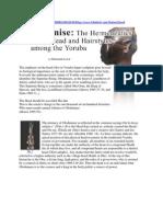 Orilonise-The Hermeneutics of the Head and Hairstyles Among the Yoruba