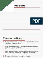 Infa Transformations