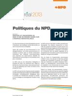 Fonds de politiques du NPD