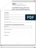 Procurement Planning Template