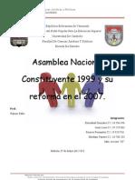 Asamblea Nacional Constituyente y Su Reforma de 2007