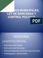 Concejos Municipales, Ley de Bancadas y Control