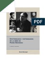 Epistemología y metodología en la obra de Pierre BOurdieu - Baranger, D.