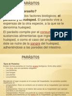 TIPOS DE PARÁSITOS