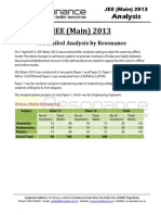 JEE Main 2013 Weightage Analysis