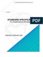 Standard Specifications for Subdivision Section 3