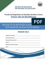 Prueba de Diagnóstico - Estudios Sociales - Primer Año Bachillerato - PRAEM 2013