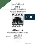 Atlantis Playcenter Assembly Manual