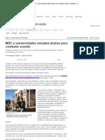 okMEC e universidades estudam planos para combater evasão - Educação - iG
