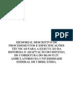Modelo Memorial Descritivo
