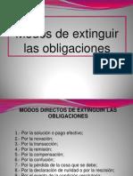 (007) Obligaciones (3) Modos de Extinguir