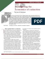 Economics of Extinction