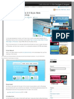 Clean Web 2.0 Style Web Design From Photoshop