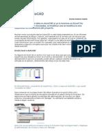 Excel en AutoCAD