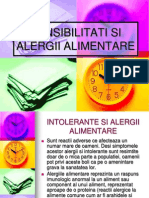 Sensibilitati Si Alergii Alimentare