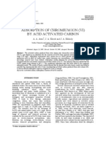 Adsorption of Chromium Ion (VI) by Acid Activated Carbon