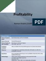 Profitability