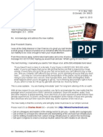 Letter to Barack Obama 13-04-10 New Reality